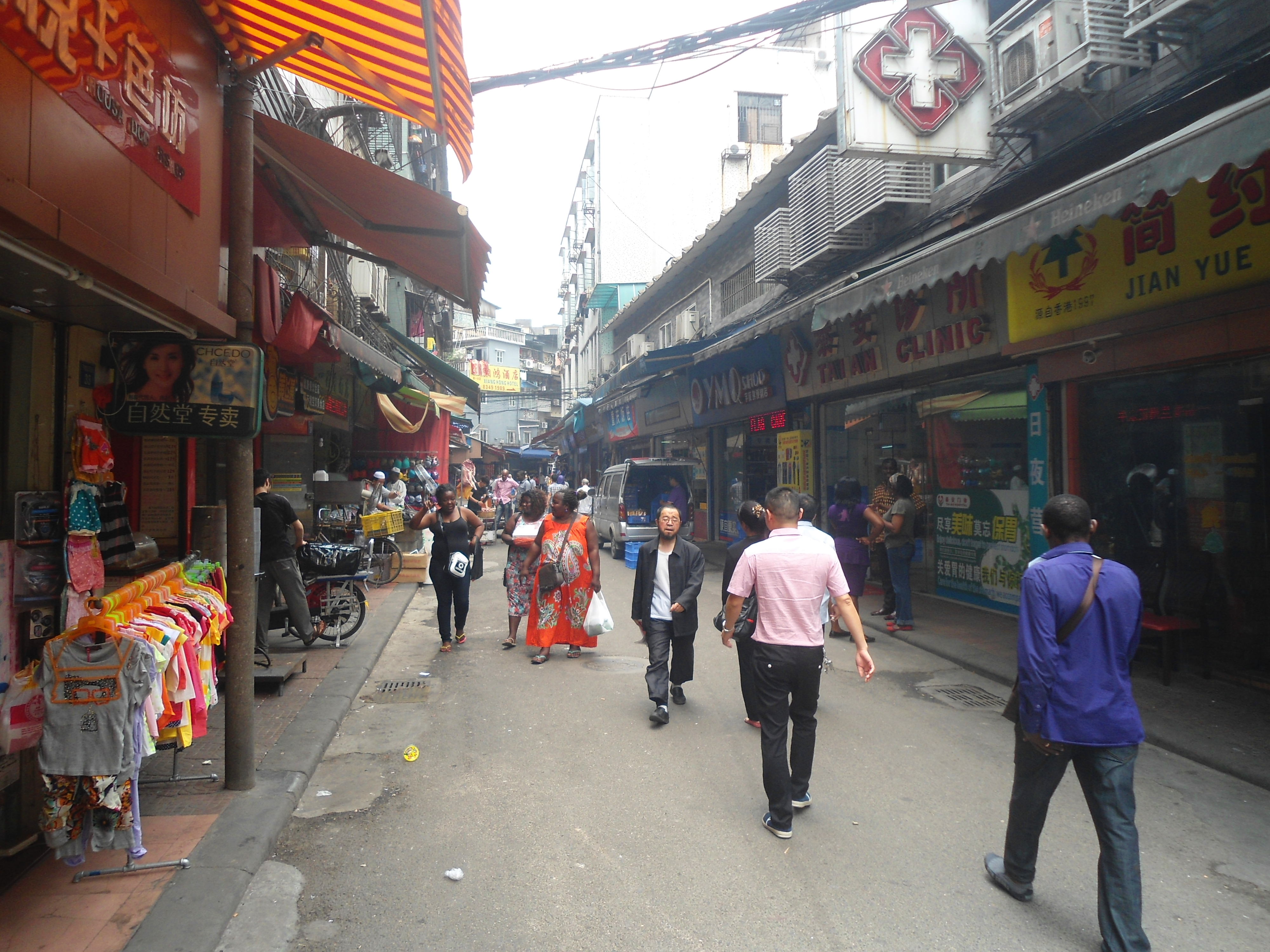African area streets in Guangzhou, China