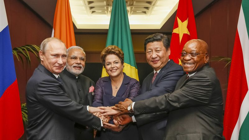 BRICS heads of state at the 2014 G-20 summit