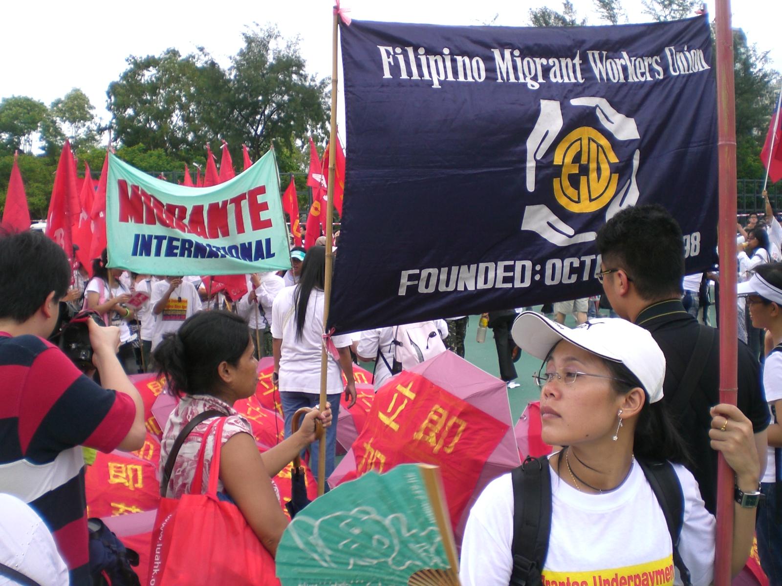 Hong Kong Filipino worker protest