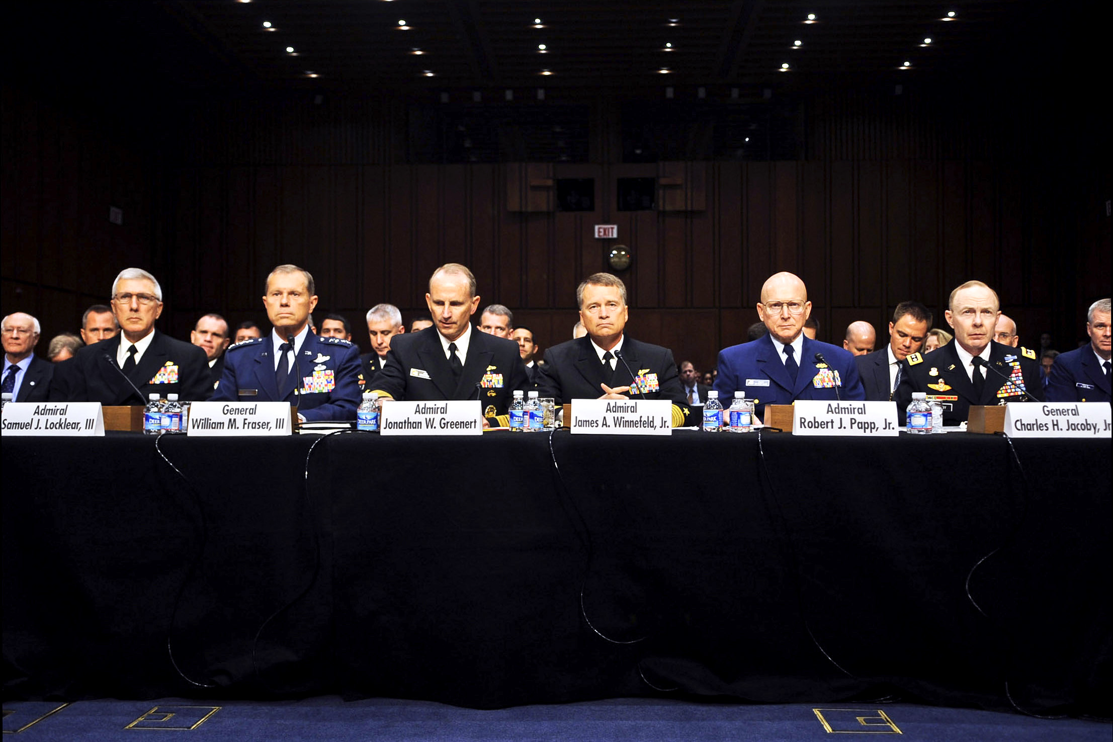 U.S. Northern Command as they testify on the Law of the Sea before the Senate Foreign Relations Committee in Washington, D.C.