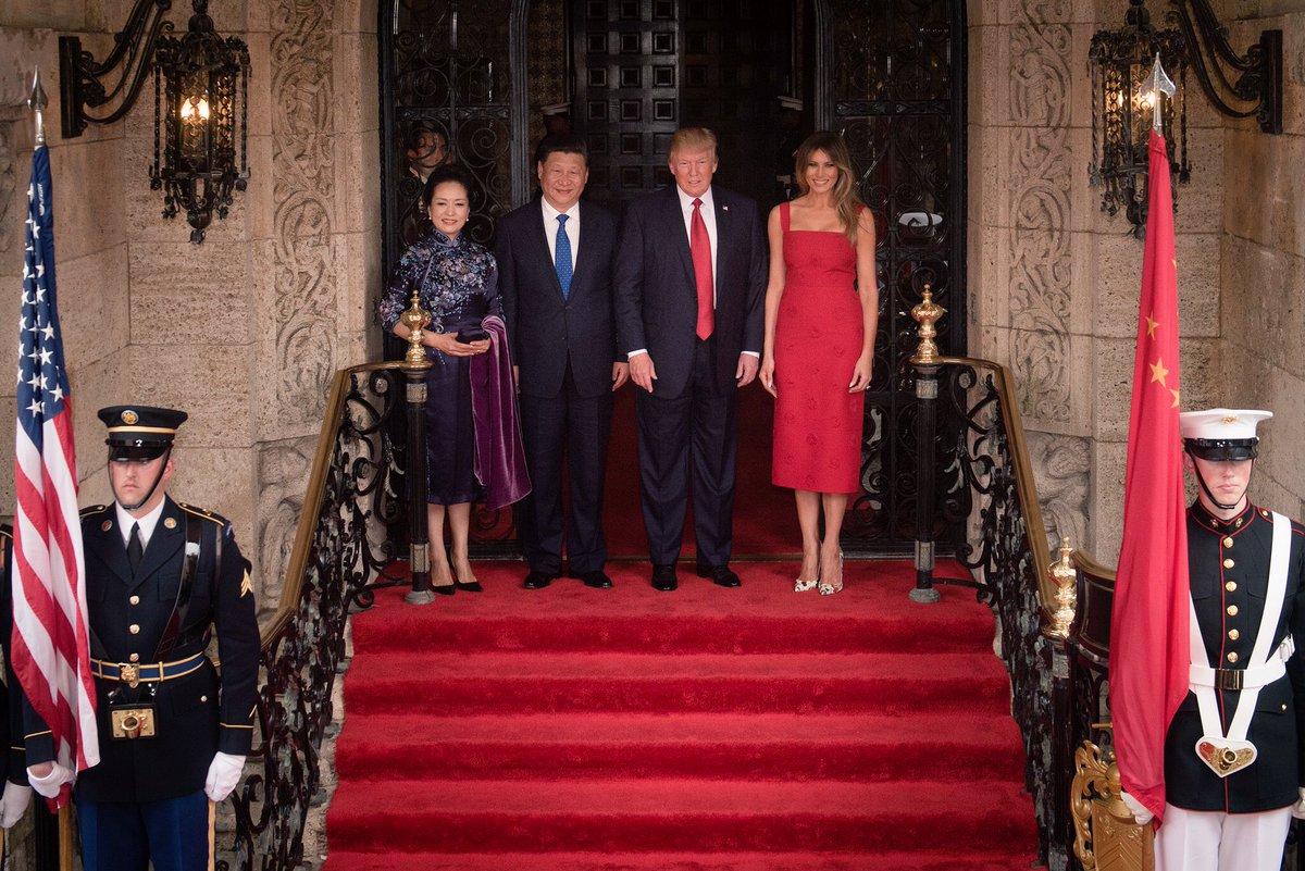 Trump and Xi at Mar-a-Lago