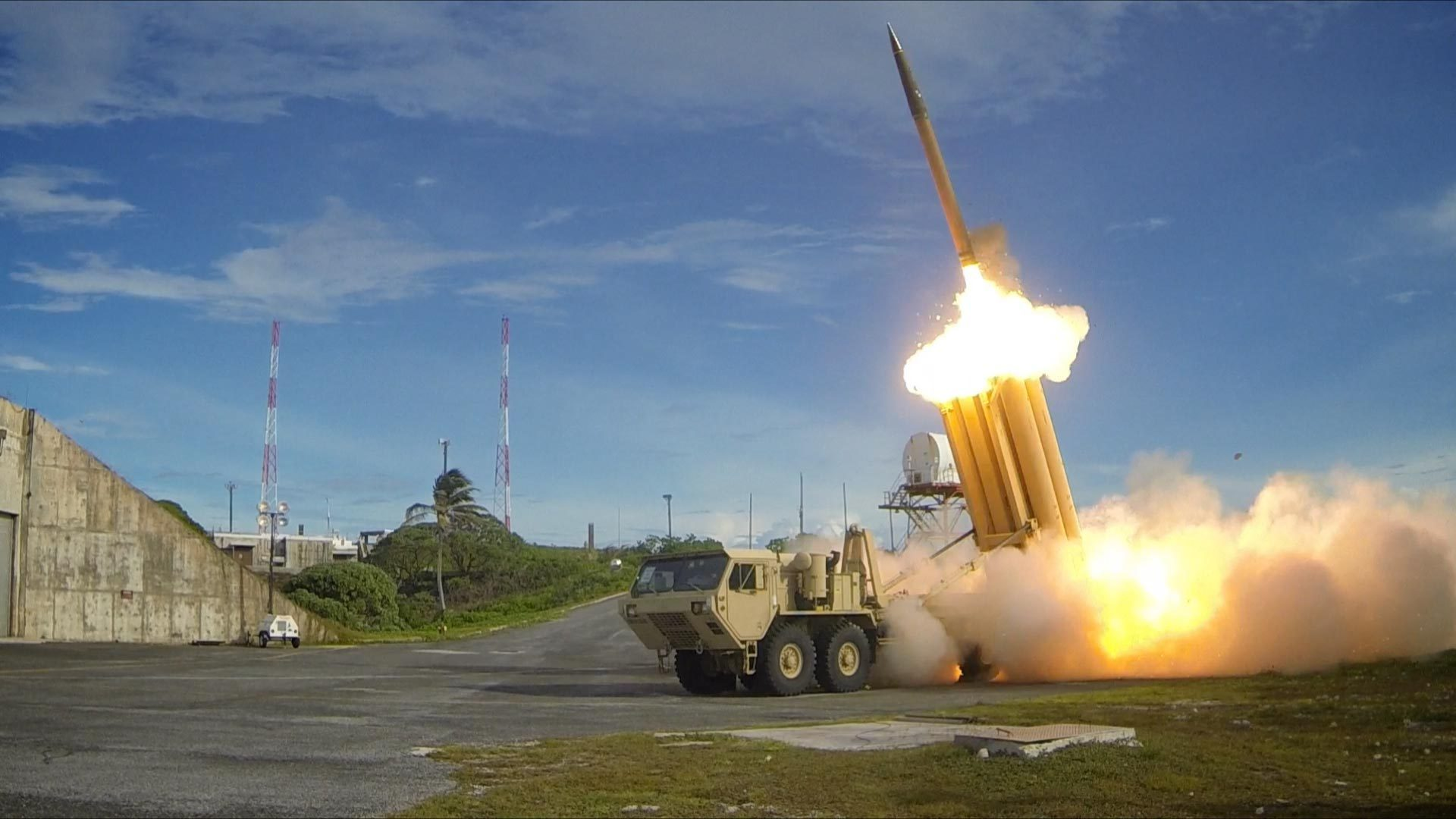 Two Terminal High Altitude Area Defense (THAAD) interceptors launched during a successful intercept test