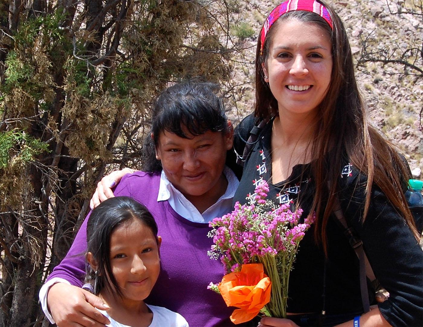 Alejandra Vazquez Baur with friends