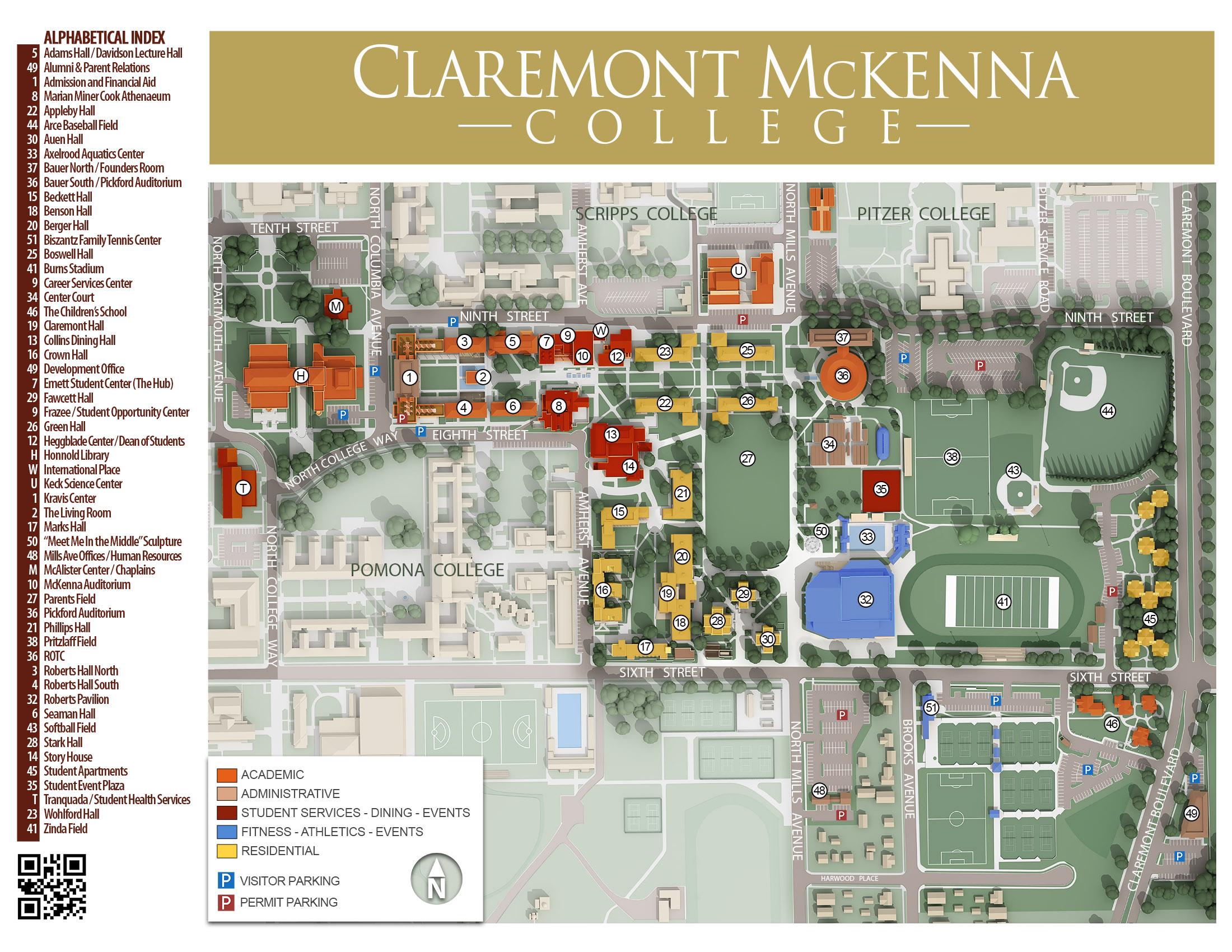 Cmc Campus Maps Claremont Mckenna College