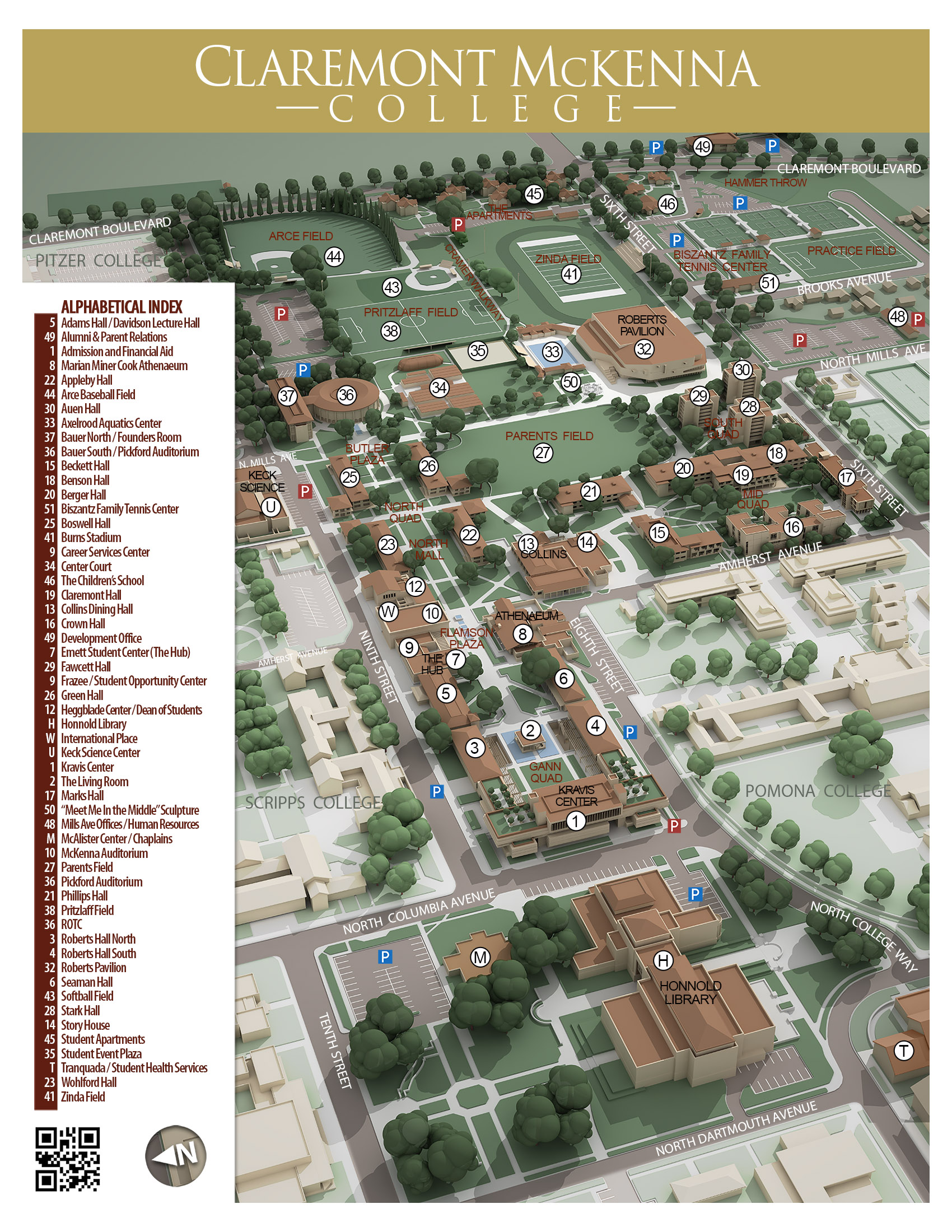 Cmc Campus Maps Claremont Mckenna College