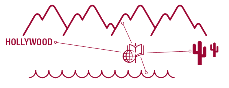 Figure showing CMC's distance from the beach and mountains