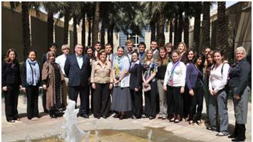 students and faculty in Kuwait