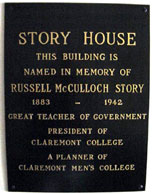 Story House Plaque