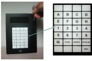 Keypad for Machine Activation