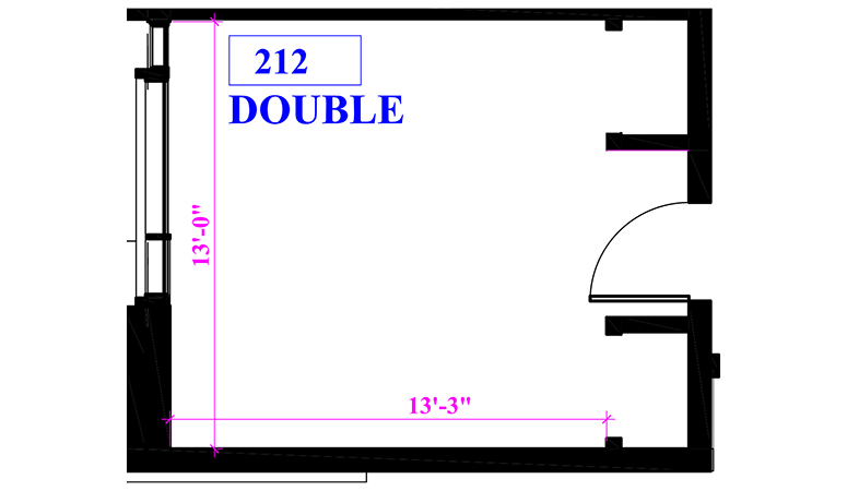 Floor plan of a double in Beckett