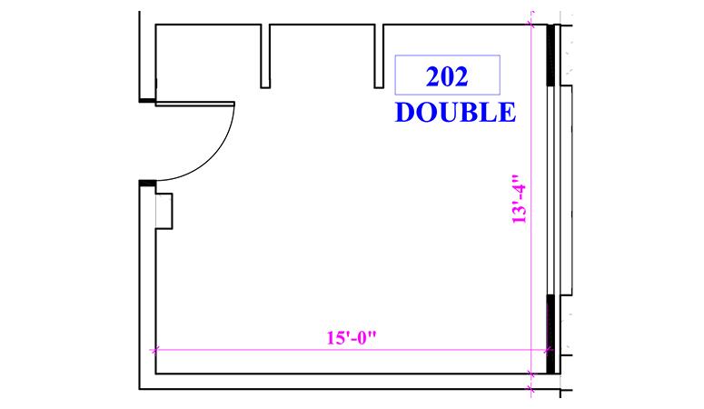 Floor plan of a double in Benson