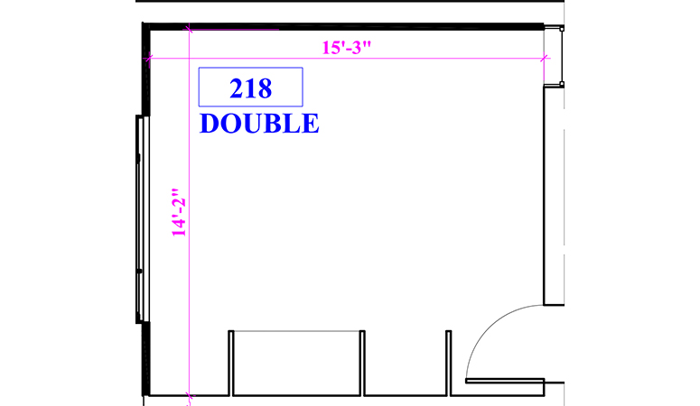 Floor plan of a double in Berger