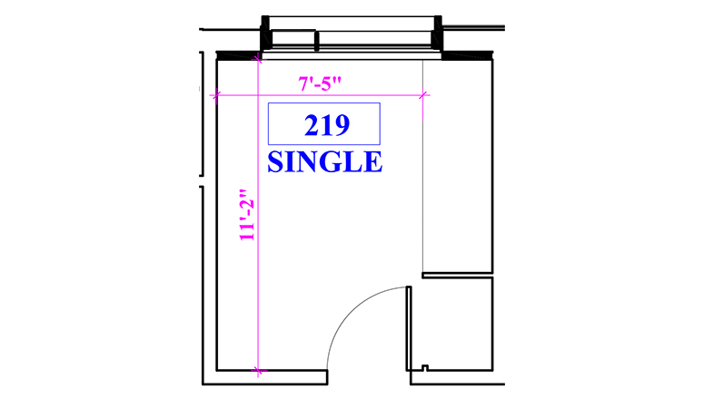 Floor plan of a single in Berger