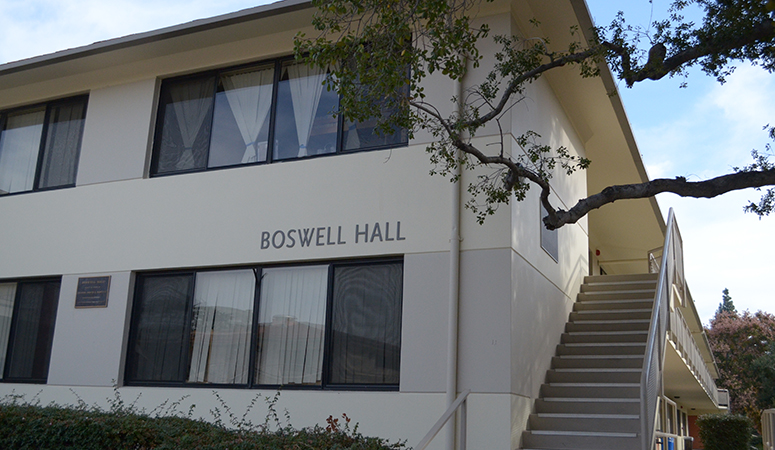 Front view of Boswell Hall
