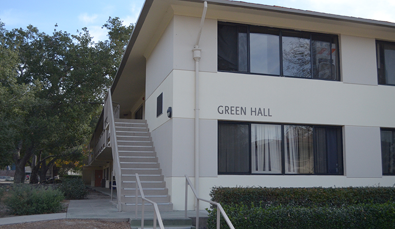 Front view of Green Hall