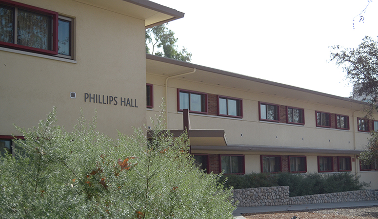Front view of Phillips Hall
