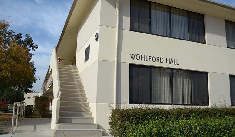 Front view of Wohlford Hall