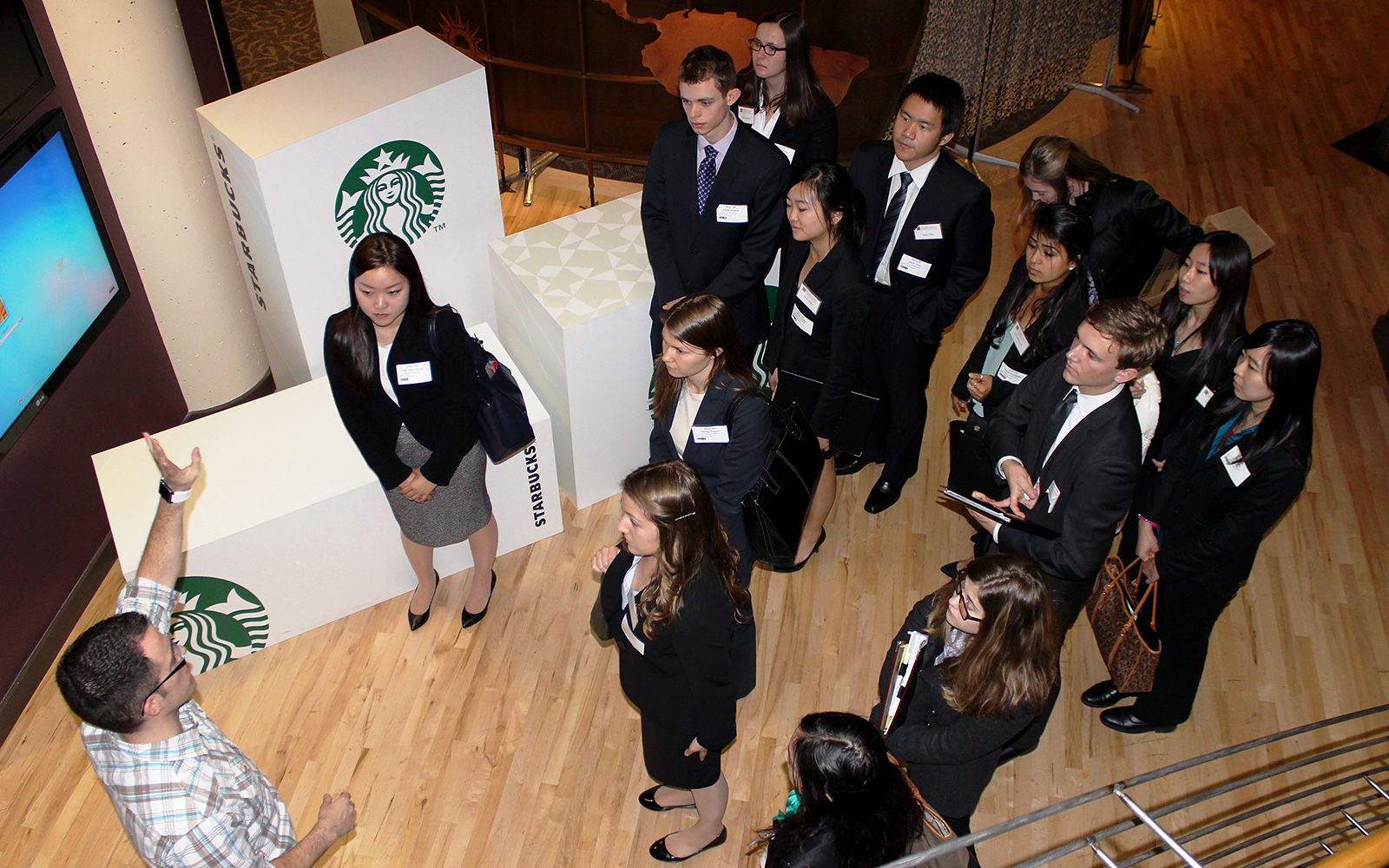 Students tour Starbucks HQ in Seattle
