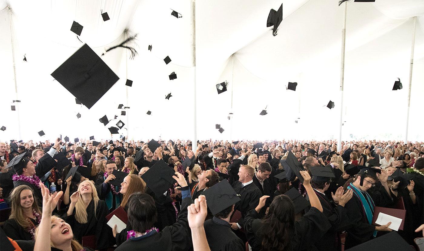 2016 graduates celebrating