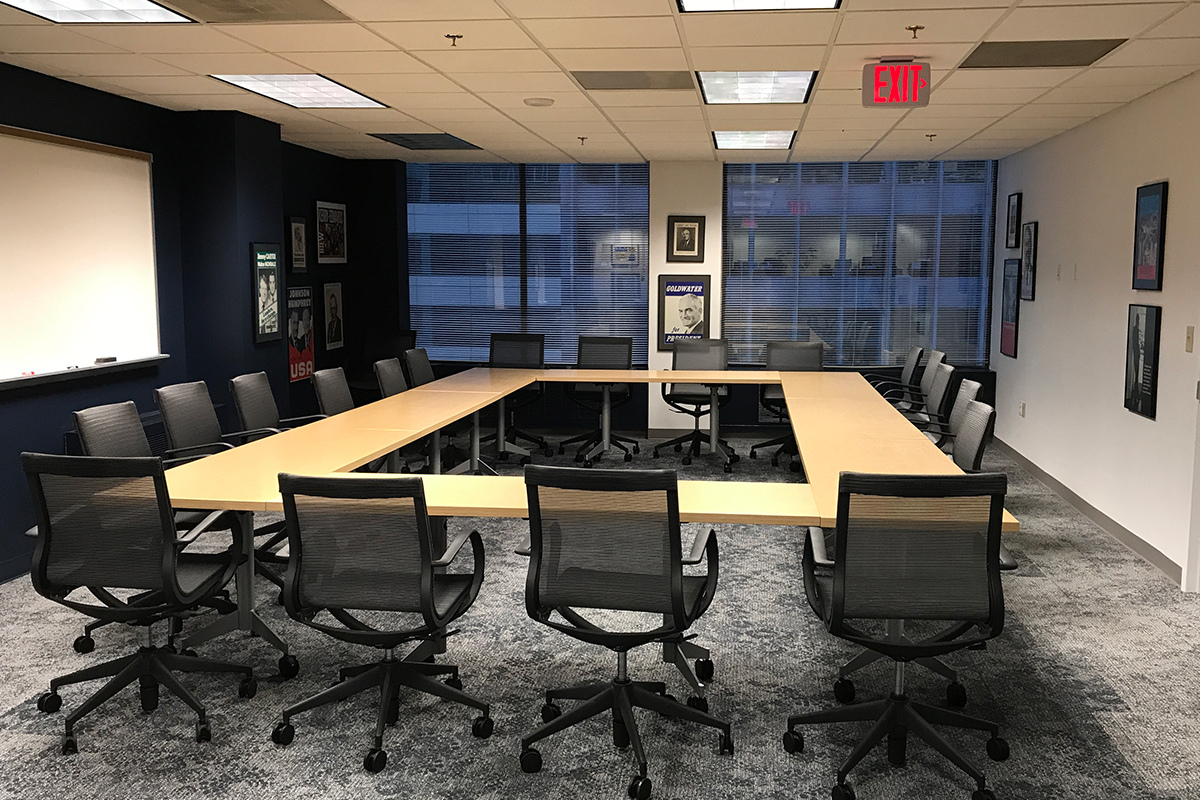 Conference room in the CMC Washington Program office