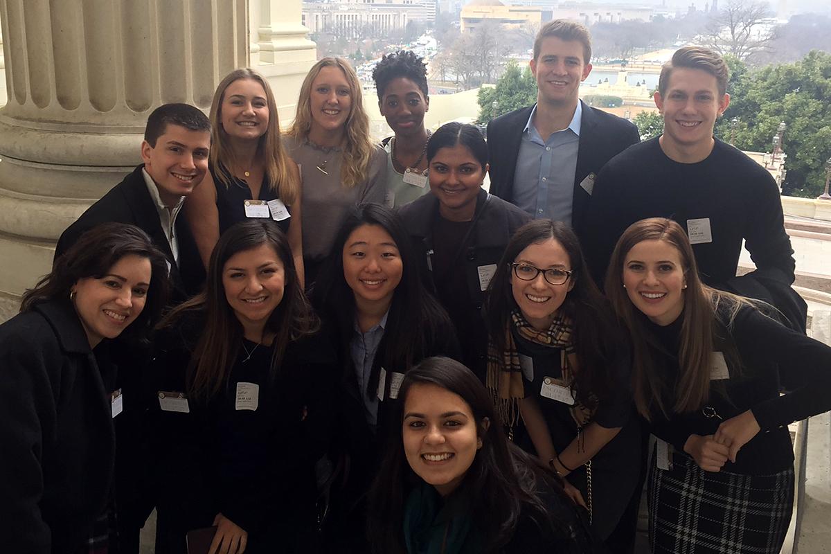 Students in the CMC Washington Program