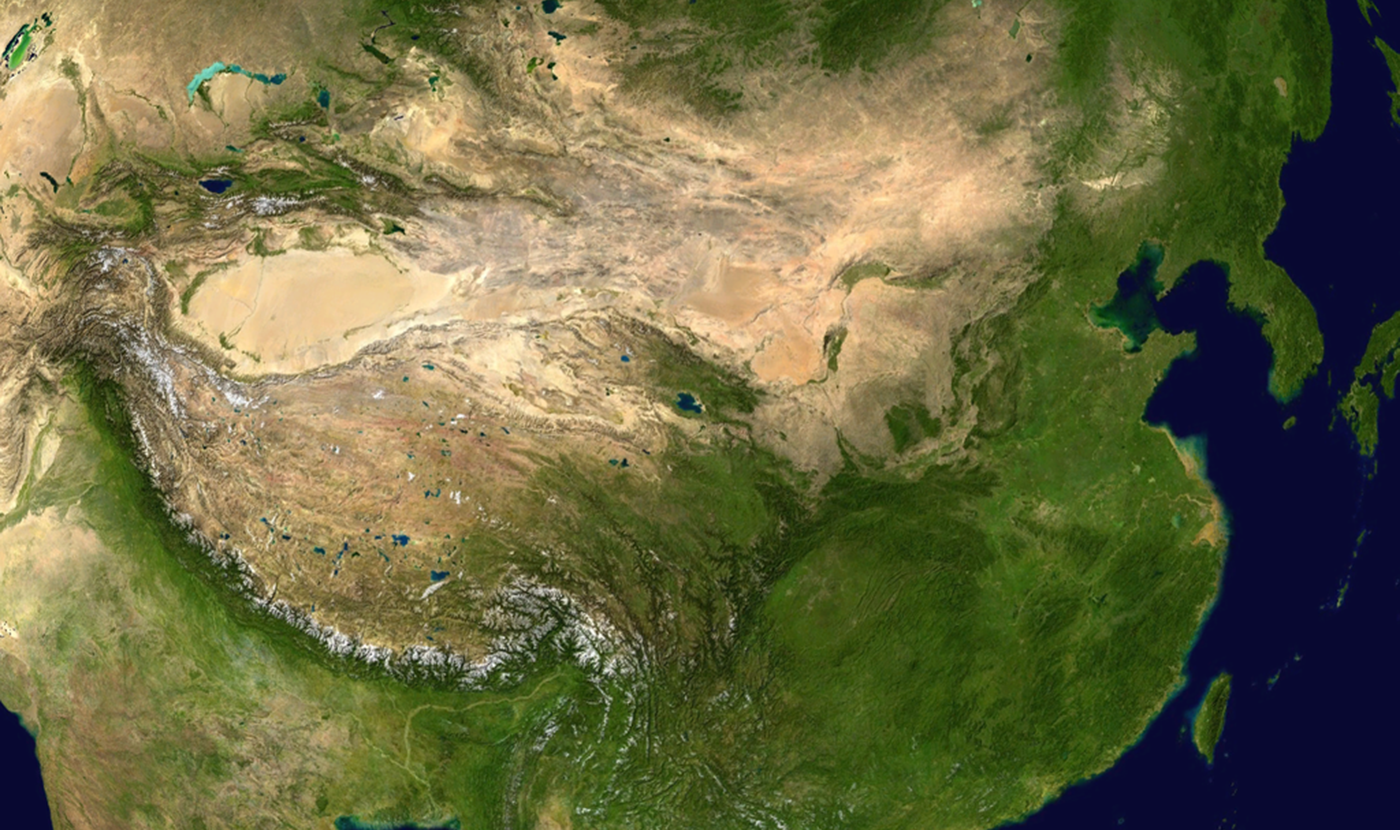 Satellite photo of China