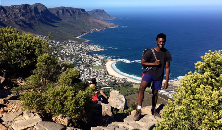 Ellis Simani in South Africa