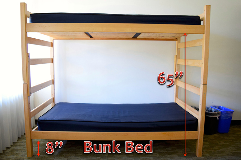Bunk bed setup