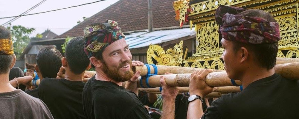 Daniel Fallon-Cyr '17, Balinese Lunar New Year, SIT Indonesia