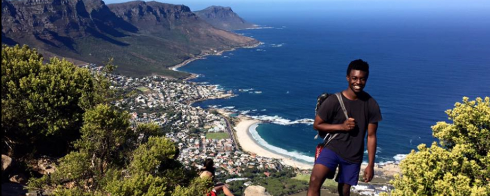Ellis Simani  '17, CIEE Cape Town, Table Mountain, South Africa