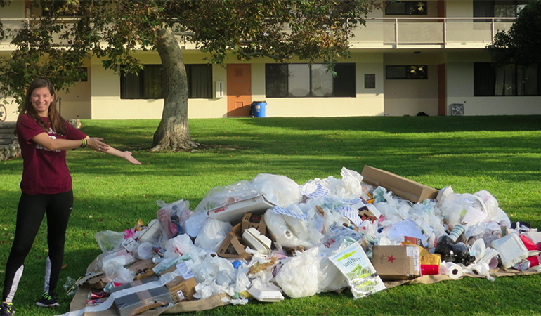 Trash on Lawn event
