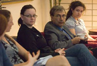 Orhan Pamuk with students 1