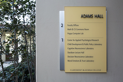 Adams Hall sign