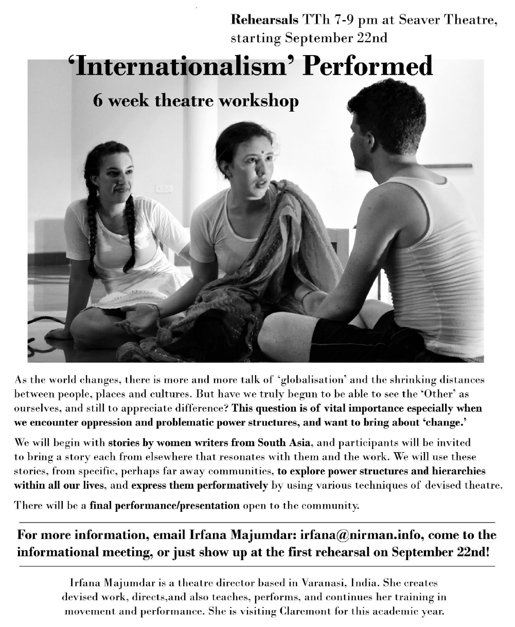 'Internationalism' Performed: 6 week theater workshop