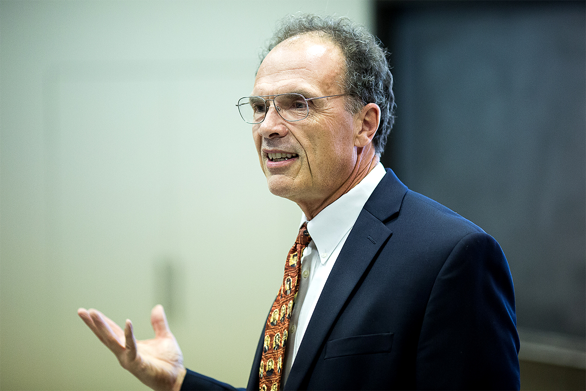 Prof. Pitney during a lecture