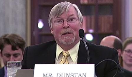 James Dunstan speaks at Senate committee hearing