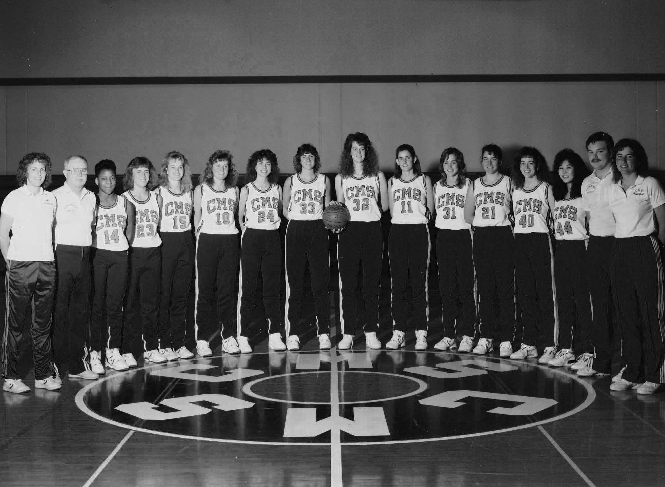 1988-89 CMS women's basketball team