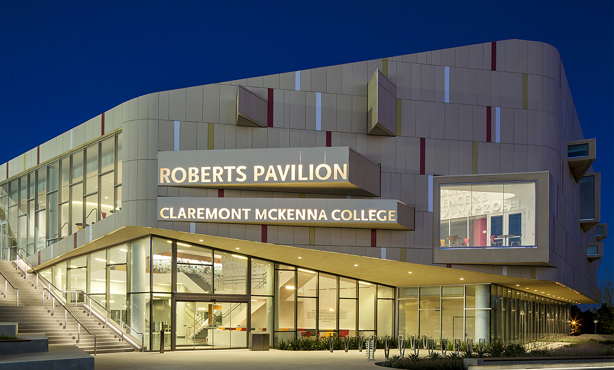 The exterior of Roberts Pavilion