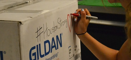 Aid box sent to Houston