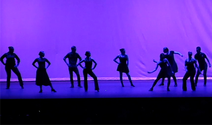 Dancers at the Claremont Colleges Ballroom Dance Company Spring Concert
