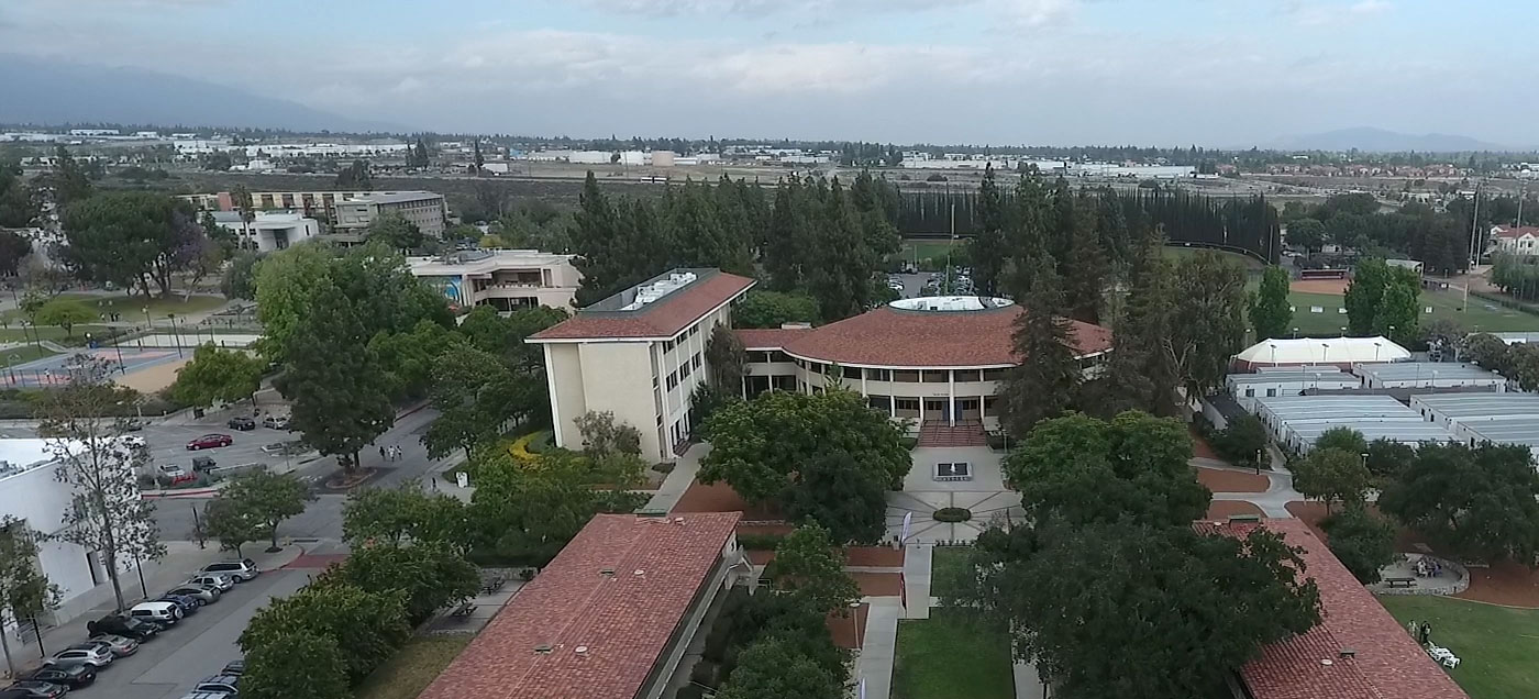 Aerial view of the CMC campus