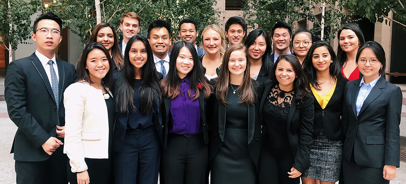 Students on Bay Area networking trip