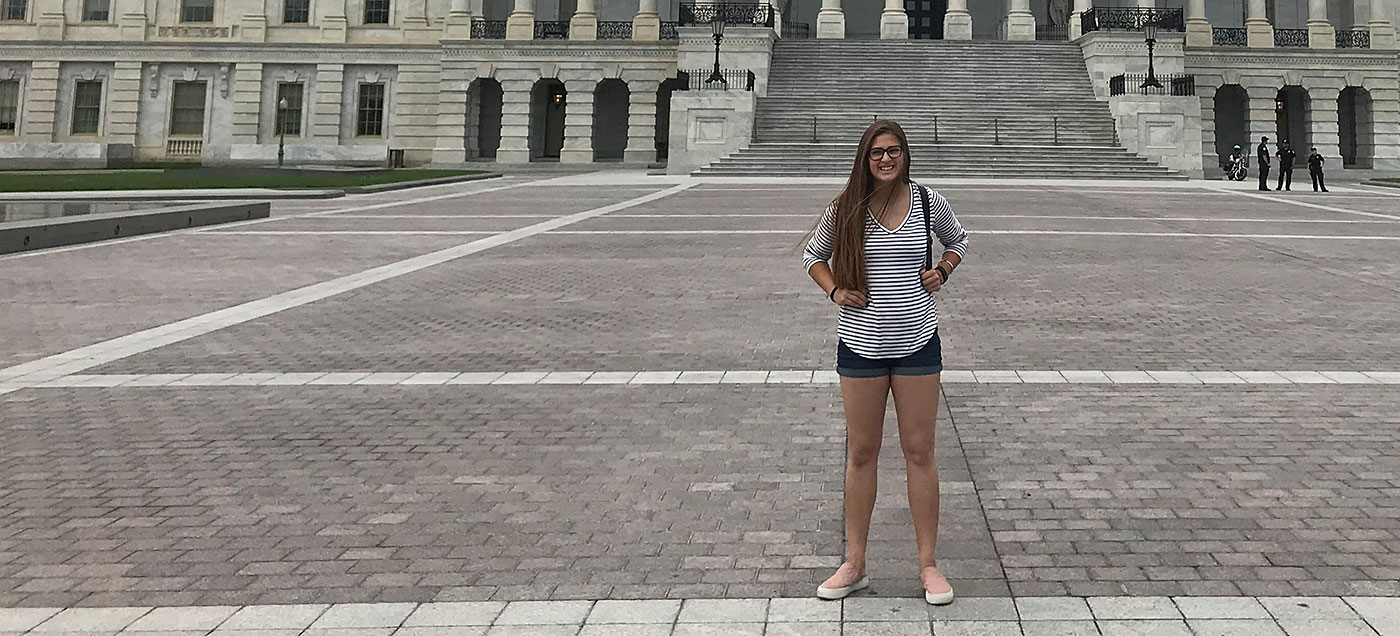 Chloe Amarilla at the US Capitol