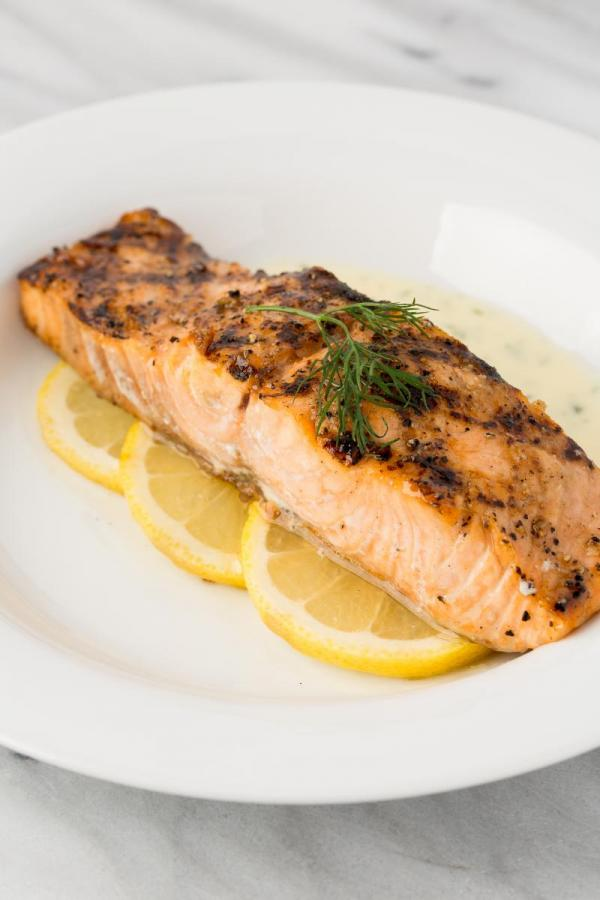 Salmon with Lemon Dill Butter Sauce