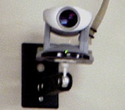 wall-mounted camera