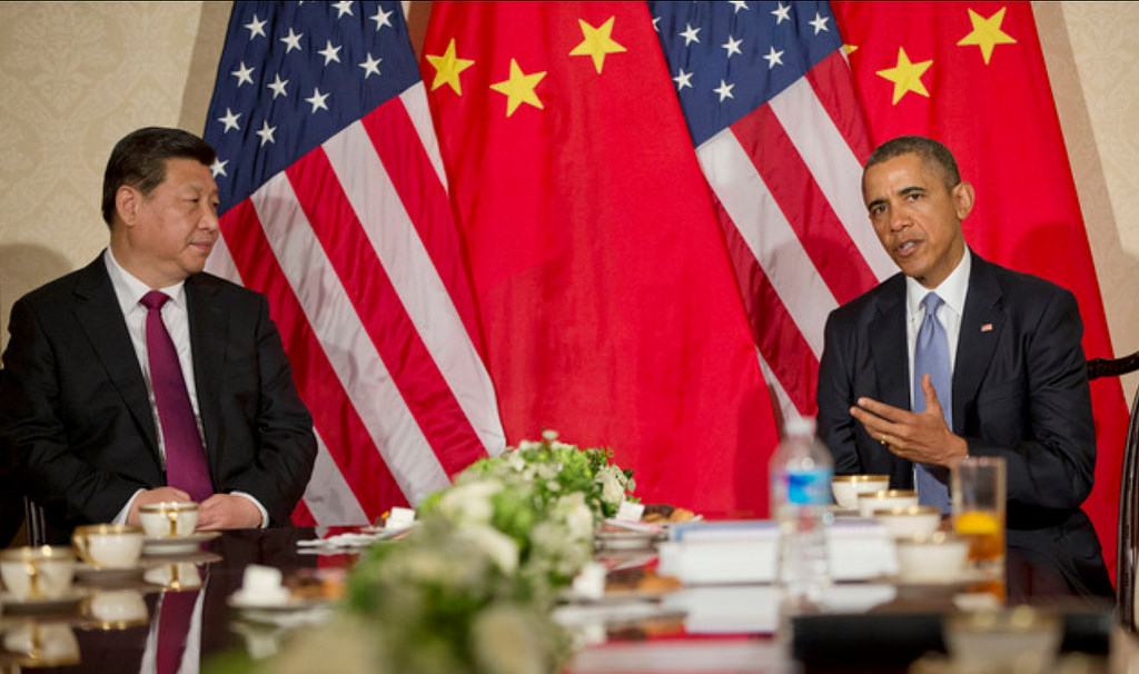 President Obama and President Xi at a bilateral meeting