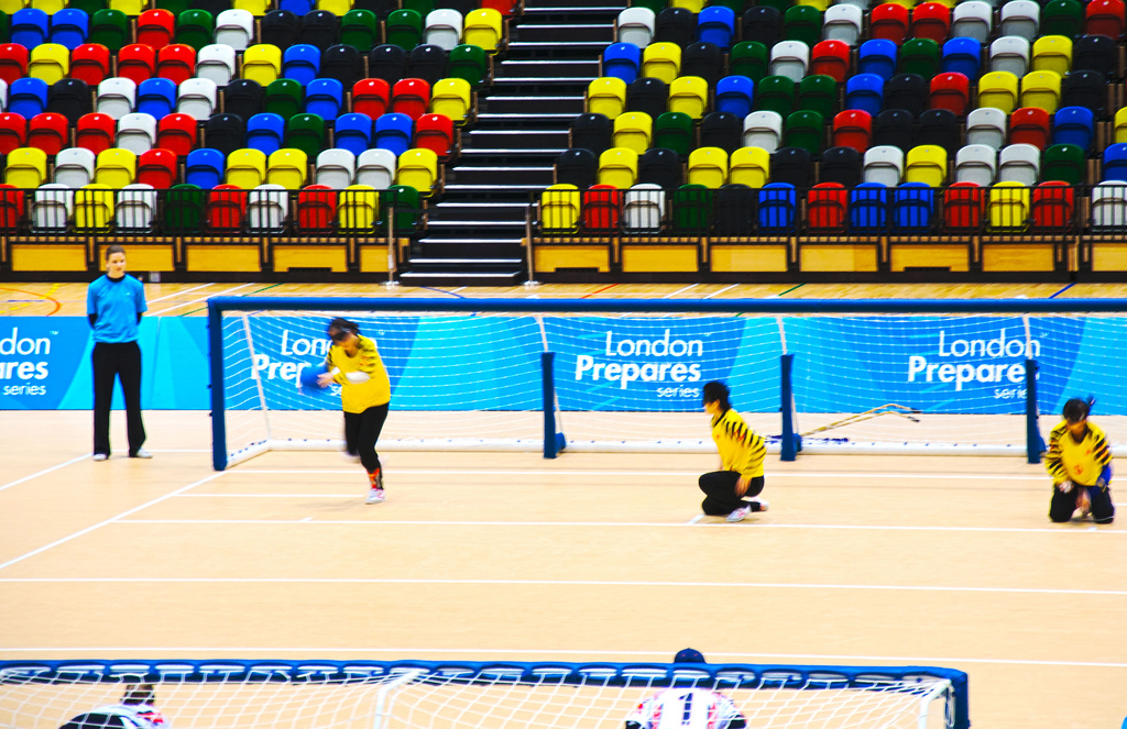 China vs US Goalball game at play