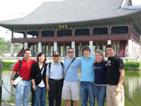 Students outside of Kyonghoe Imperial Palace