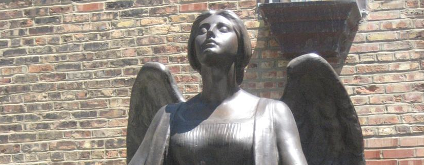 Shaler Memorial Angel at the University of Chicago