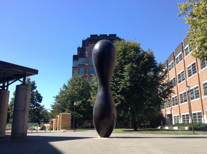 Sculpture outside the physics department at the University of Washington